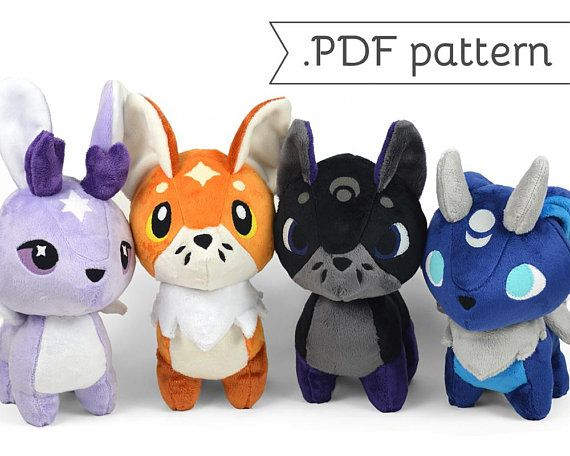 5f330a7f0a847 Fox and Hare Chibi Plush Sewing Pattern .pdf Tutorial | Products ...
