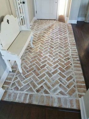 traditional bathroom brick floor. achieve this look with