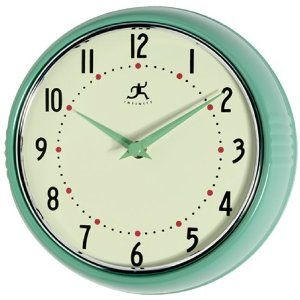 Clock For Kitchen Retro Metal Teal Green Red Black Very Hy About This