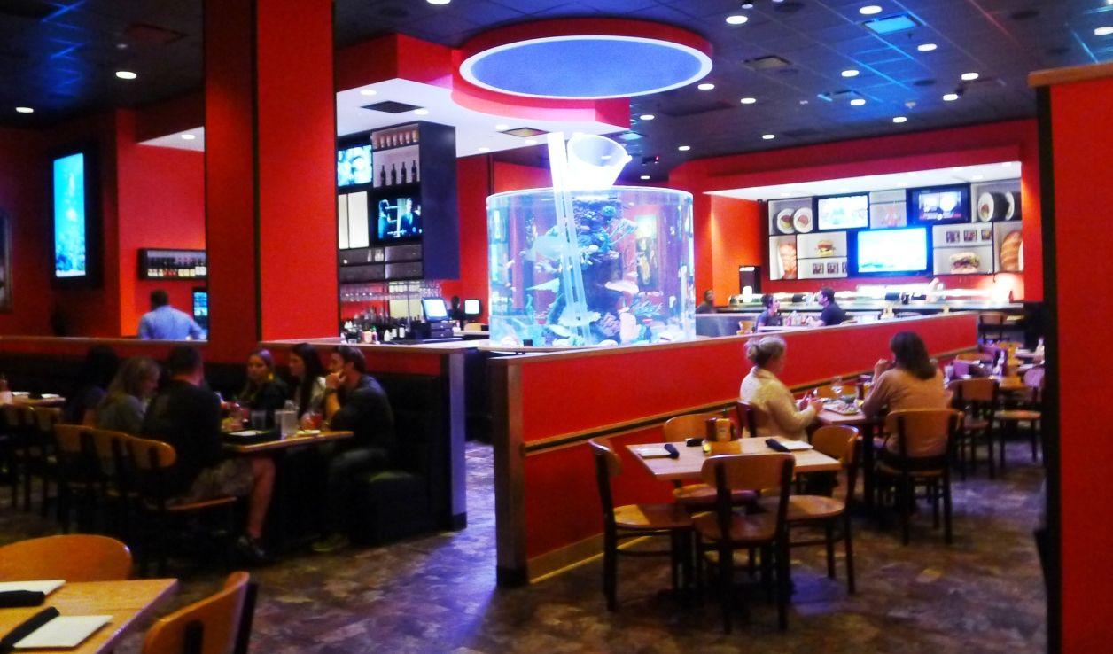 Interior at cowfish sushi burger bar raleigh nc triangle