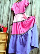 VINTAGE Retro Rockabilly Pin Up Fiesta Maxi Dress by Nancy B Size 9
