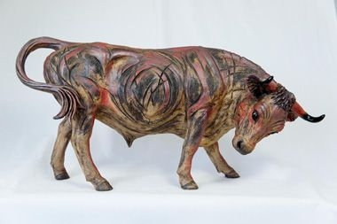Red Bull. Pippa Hill animal sculpture