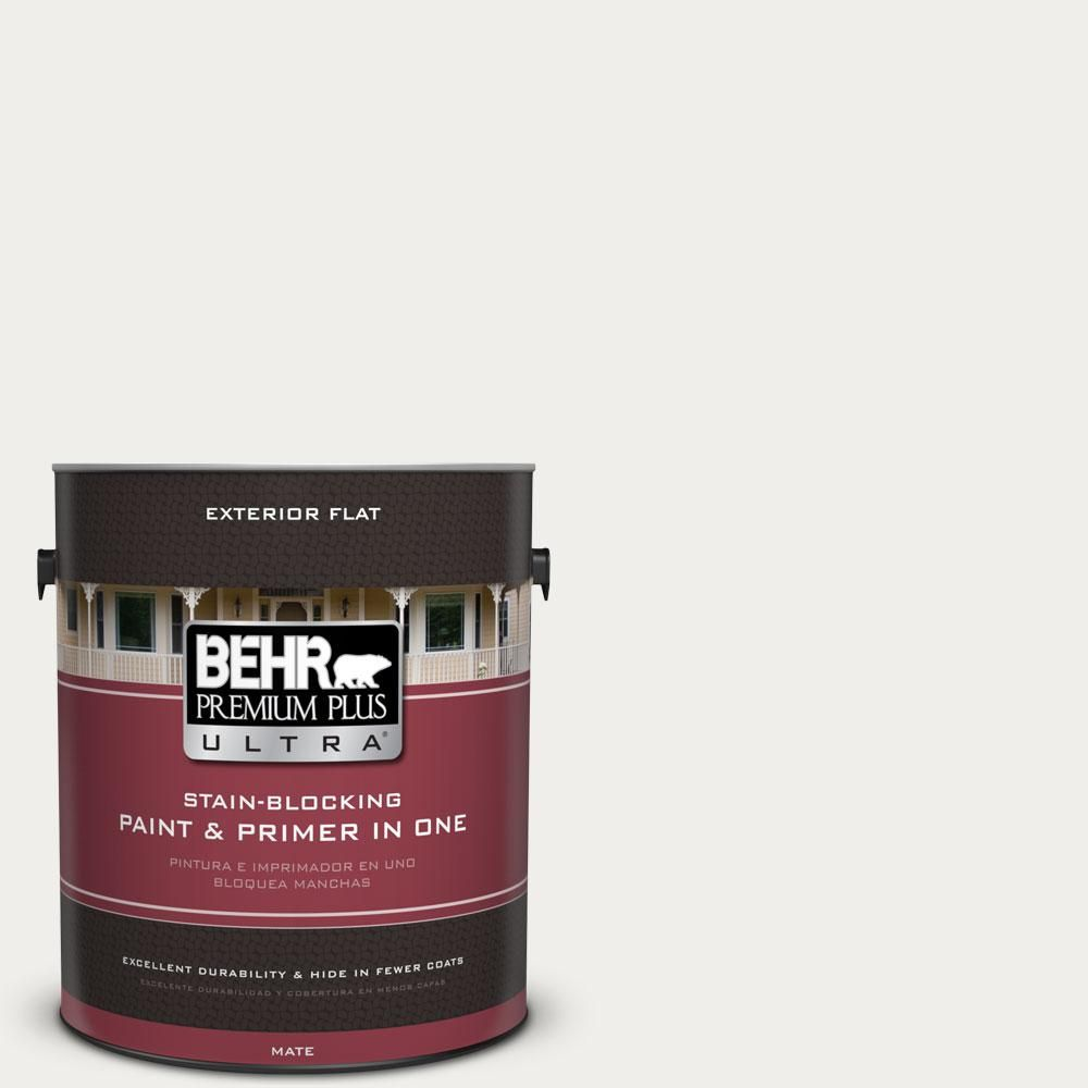BEHR Premium Plus Ultra 1-gal. #T11-13 Fuji Snow Flat Exterior Paint