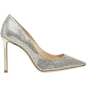 Jimmy Choo Women 100mm Romy Glitter & Net Lace Pumps