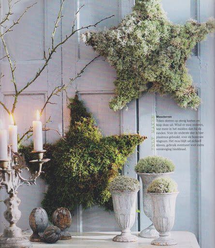 Moos sterne zuk nftige projekte pinterest weihnachten deko weihnachten und diy weihnachten - Skandinavische dekoration ...