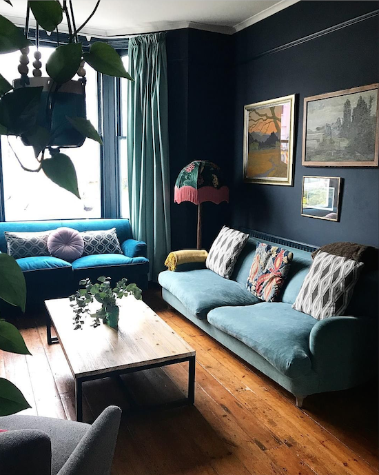 jonesy sofa j c apartment dark living rooms home decor rh pinterest com