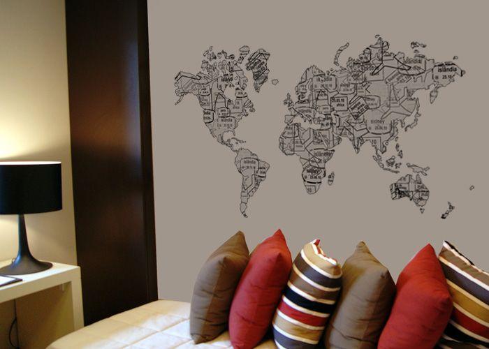 Leandro Selister  Mapa Mundi em Adesivo Carimbos  http