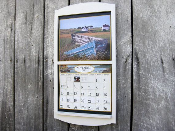 135 x 24 wood frame calendar holder classic by sugarshackshoppe 4000