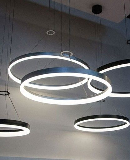 Round Led Suspended Lights   Google Search