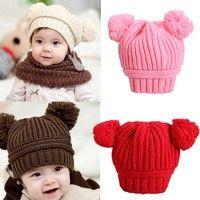 Jag tror du skulle gilla Fashion clothing Korea Style Lovely Dual Ball Design Kids Baby Warm Knitted Wool Hat Cap. Lägg till den i din önskelista!  http://www.wish.com/c/531fcf49a801b666e54df45e