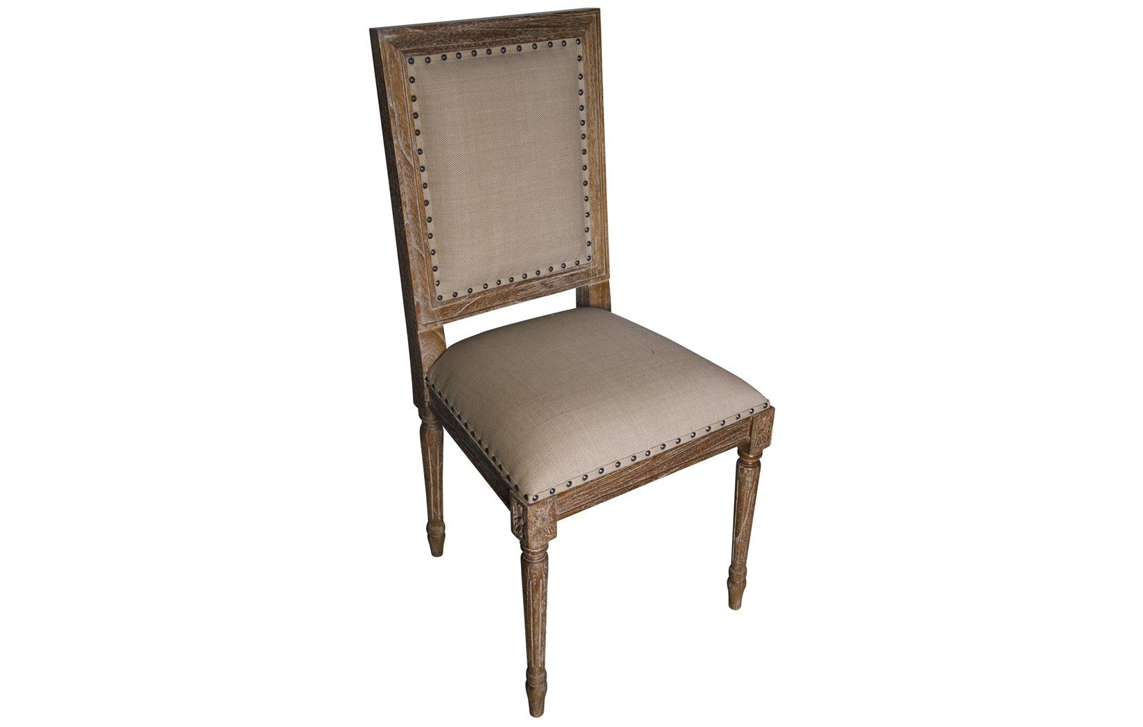 :: NOIR :: regency side chair in grey wash - like this best
