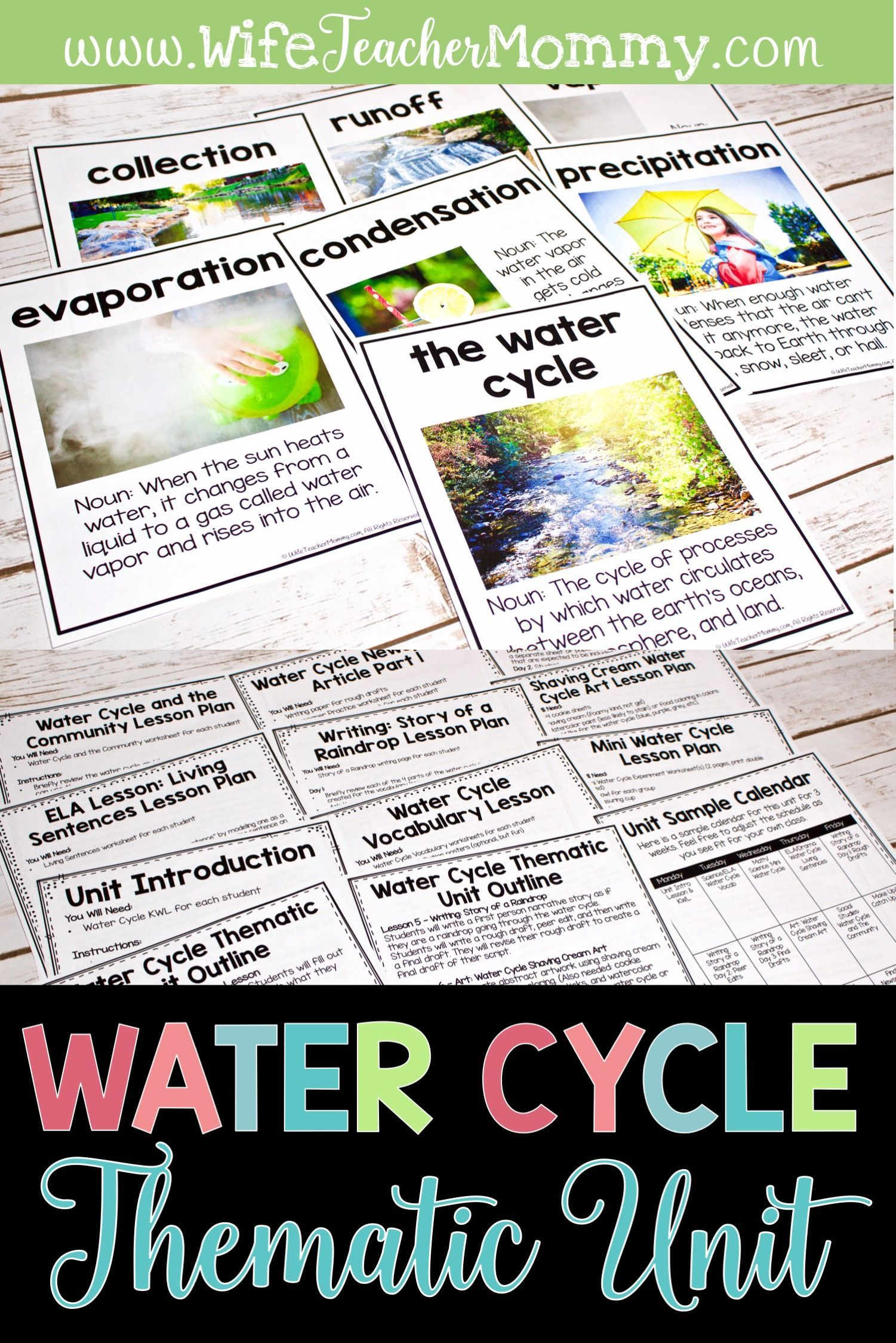 Water Cycle Unit Posters Project Water Cycle Activities