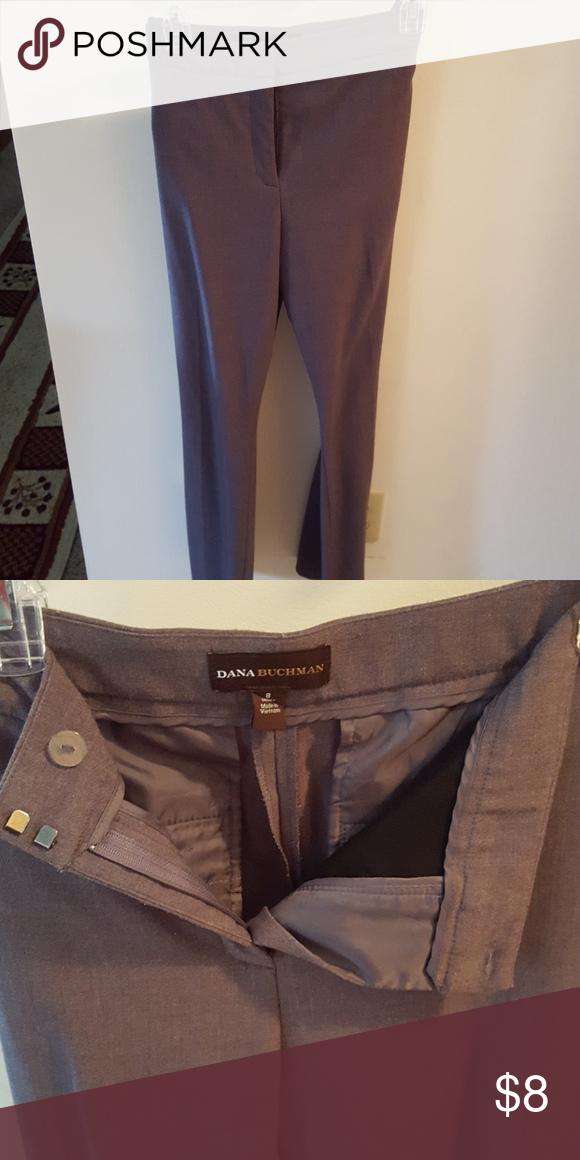 Heather grey dress pants Regular cut two false pockets in rear Pants Trousers