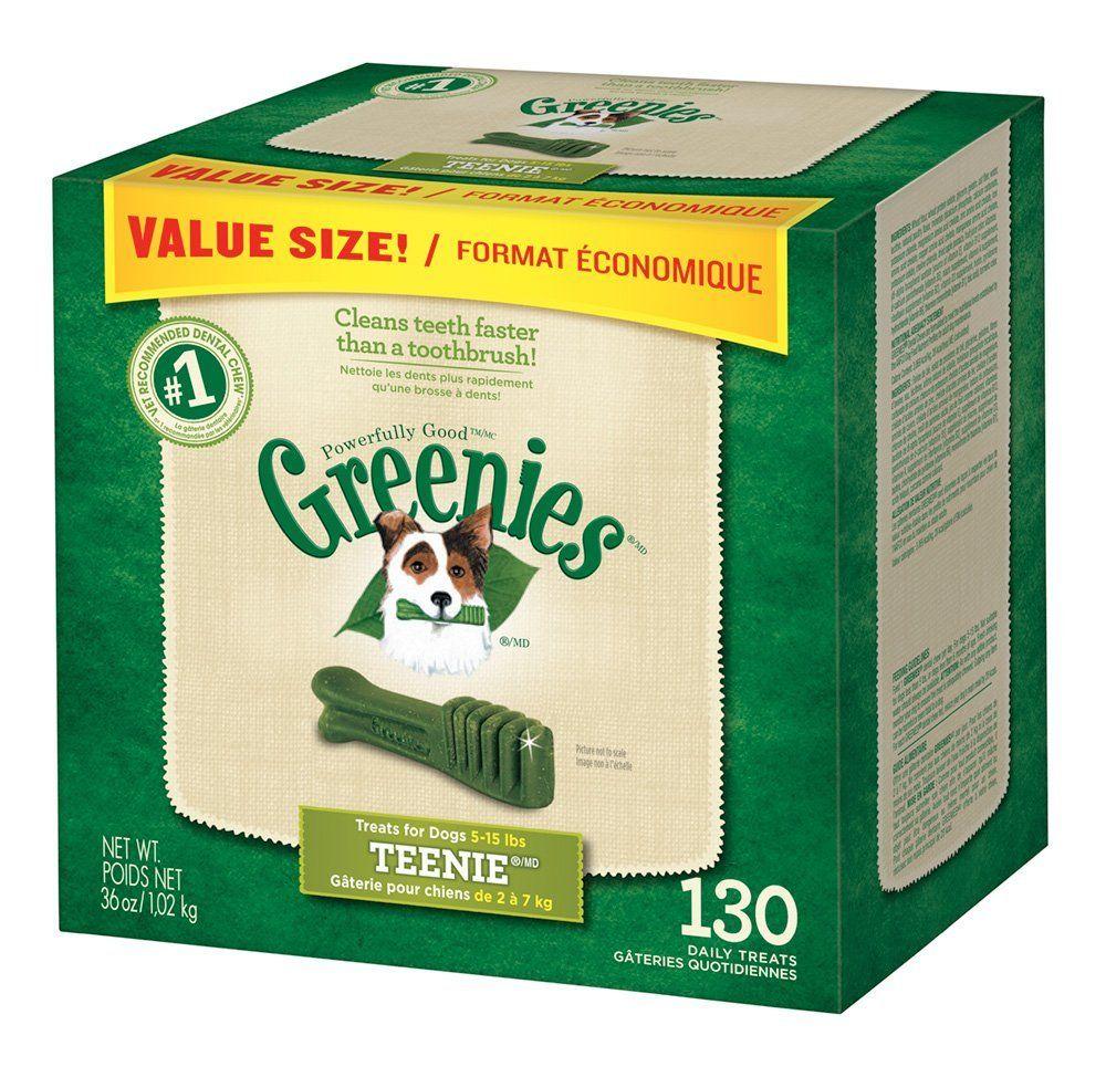Amazon.com : GREENIES Dental Chews TEENIE Treats for Dogs - Value Tub 36 oz. 130 Treats : Pet Snack Treats : Pet Supplies