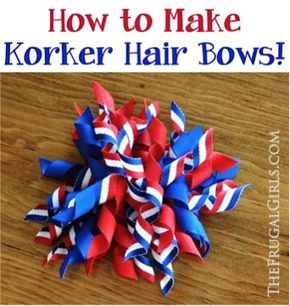 Have you been wondering How to Make Korker Hair Bows with the curly ribbon?? #hairbows
