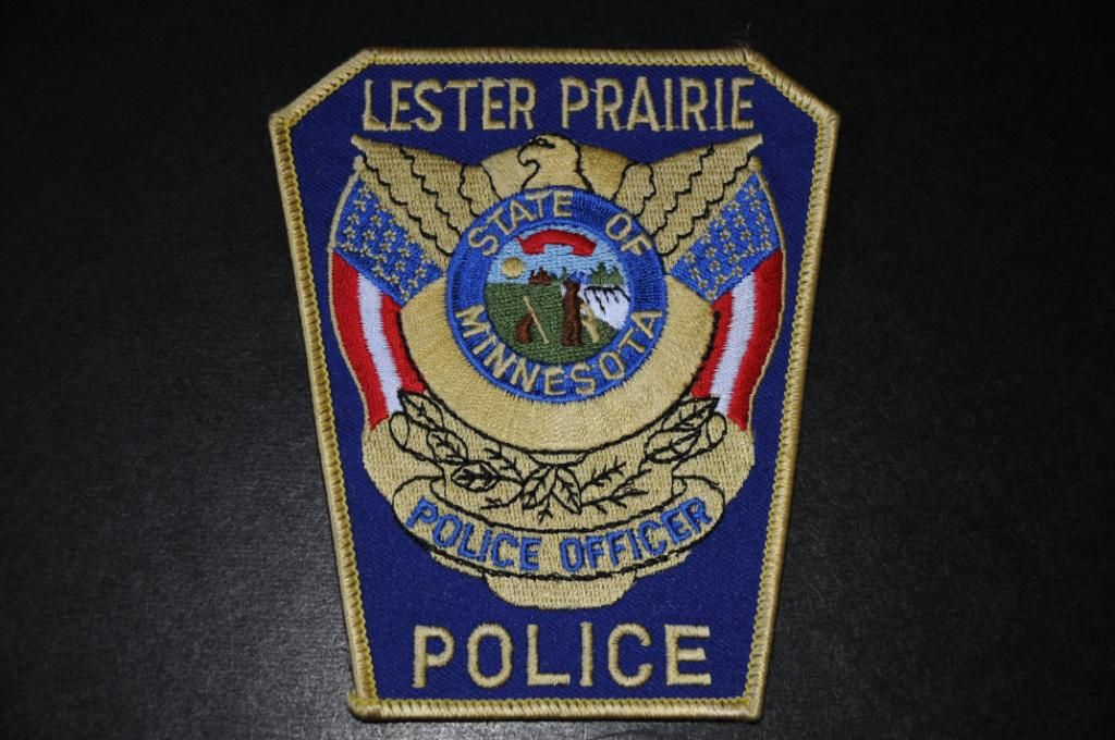 Lester Prairie Police Patch, McLeod County, Minnesota
