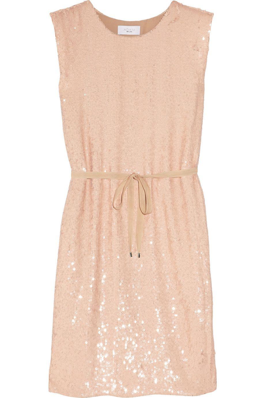 sequined silk-chiffon dress