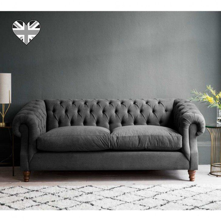 sleepy sunday chesterfield sofa bed in steel grey in 2019 rh pinterest com