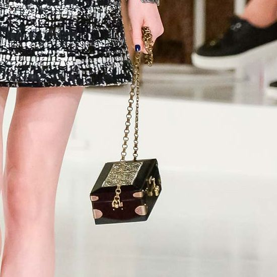 The new Chanel it bag Vintage jewelry box bag at Chanel Cruise