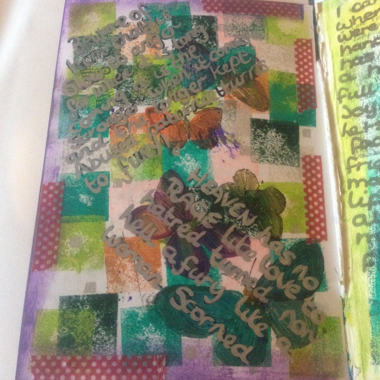 Random texture page art journal ideas/inspiration/mixed media