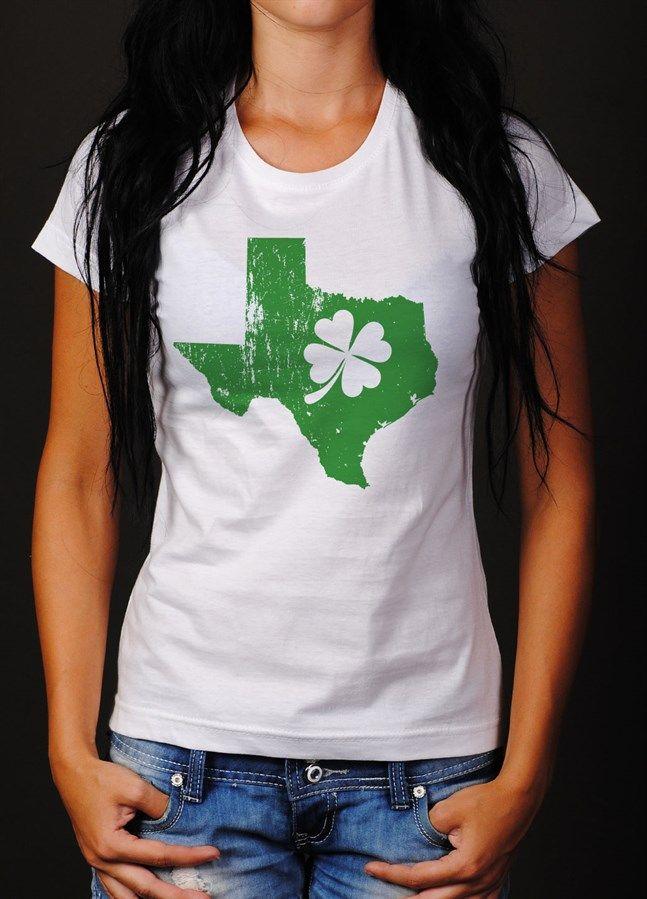 Shamrock State Tee Womens Clothing St Patrick Shirts St