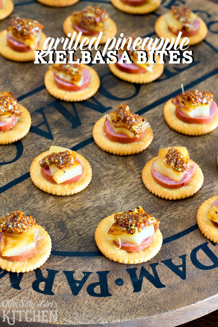Christmas Appetizer Party Ideas Part - 35: Grilled Pineapple Kielbasa Bites, A Simple, Easy And Delicious Holiday  Appetizer Recipe Featuring Buttery