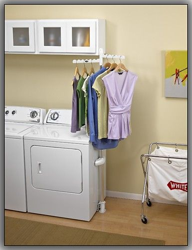 Whirlpool - Laundry 123 Clothing Rack - White - Larger Front