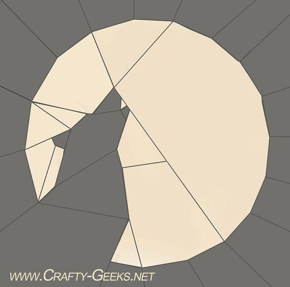HOWL Quilt Block Pattern Wolf --UPDATED | Nähen auf Papier, Nähen ...