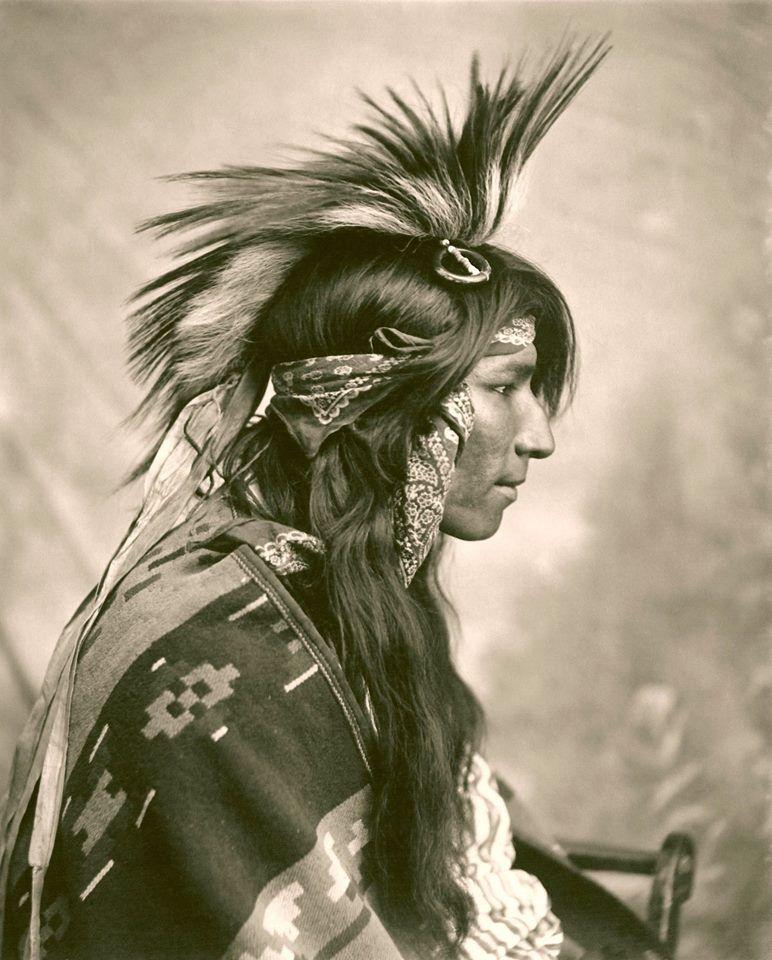 Cree man. Saskatchewan. Photo by G.E. Fleming. 1903. Source - The British…