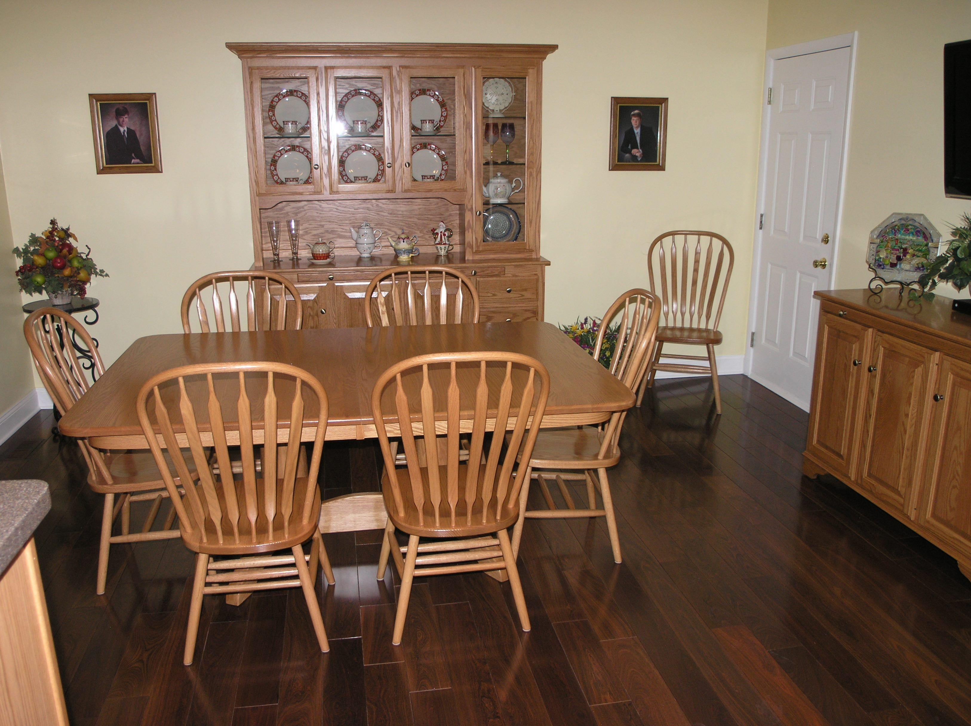 Brazilian ebony hardwood flooring - My New Brazilian Ebony Hardwood Floor And Amish Dining Room Furniture Love It