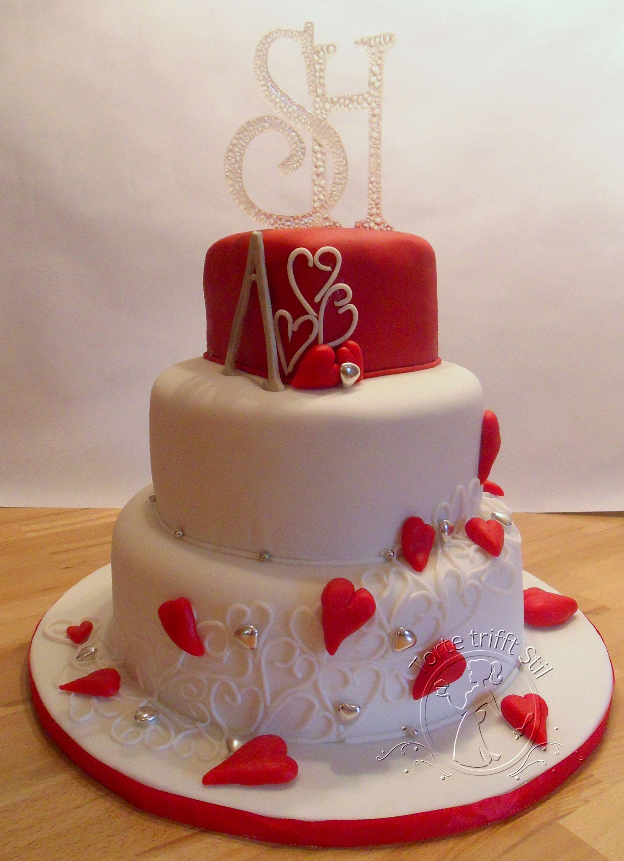 Herz Hochzeitstorte Torte Trifft Stil Heart Wedding Cake Wedding
