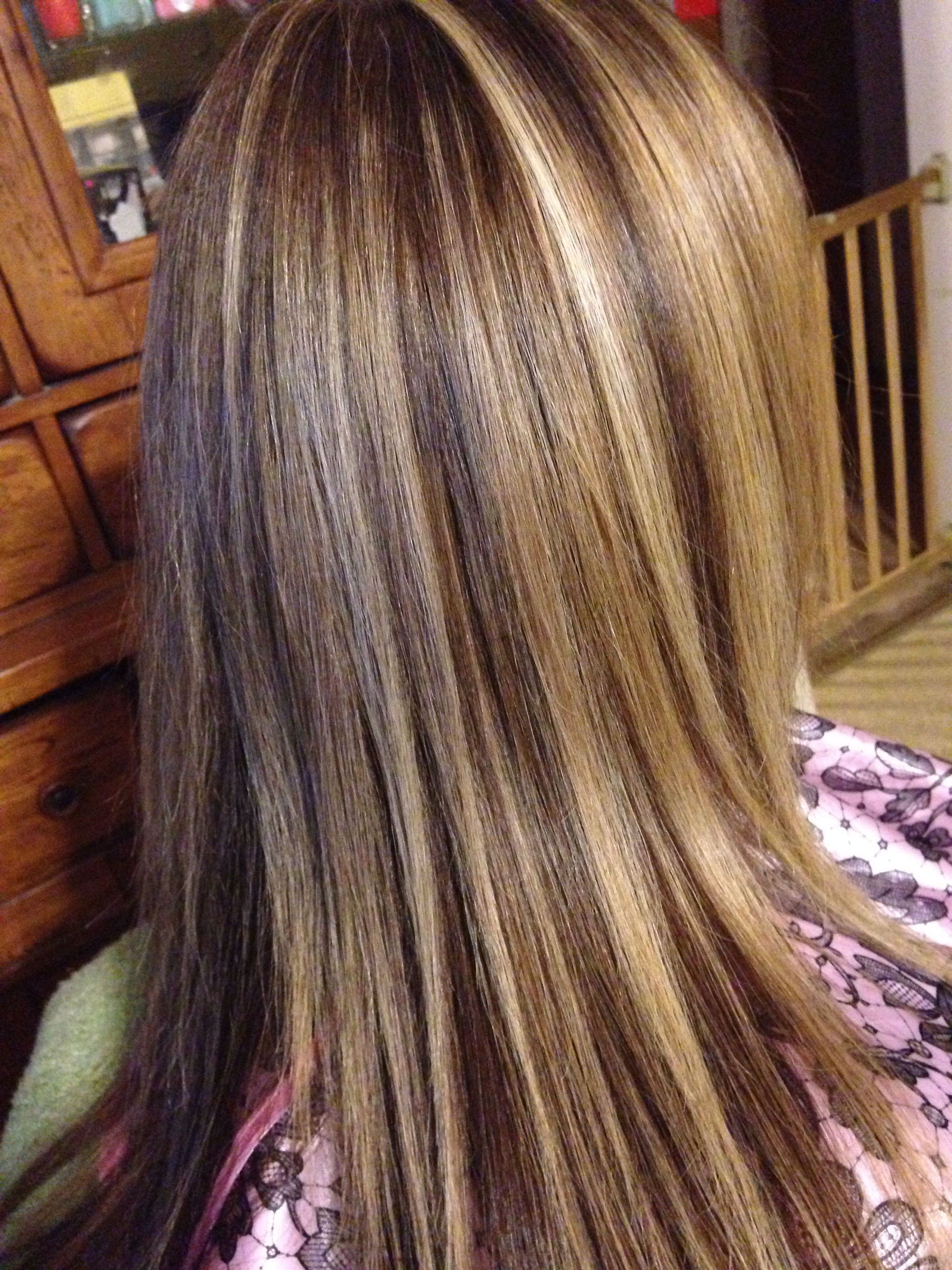 Three Color Foil Hair Saras Hair Creations Pinterest Hair