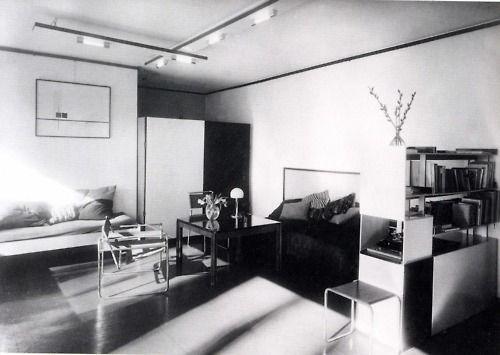 Living room of Laszlo and Lucia Moholy-Nagys Master House Dessau c
