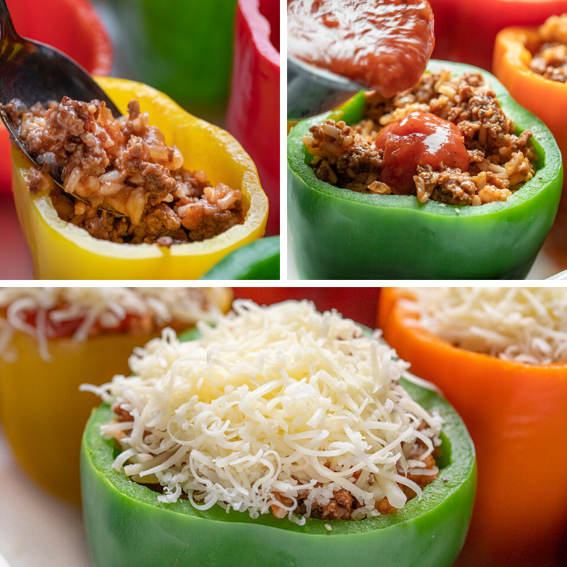 Stuffed Peppers Are Bell Peppers Filled With A Rice And Ground Beef Mixture Topped With Seaso In 2020 Stuffed Peppers Peppers Recipes Stuffed Bell Peppers Ground Beef
