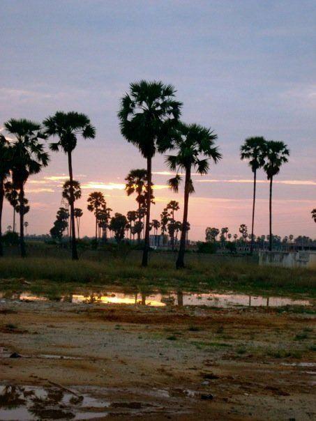 Sunset @ Wesleyan Bible Institute in Phnom Penh, Cambodia