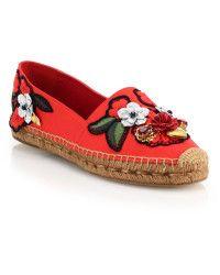 486d62163f9 Dolce & Gabbana Locket, Flower & Jewel Embroidered Espadrilles red ...
