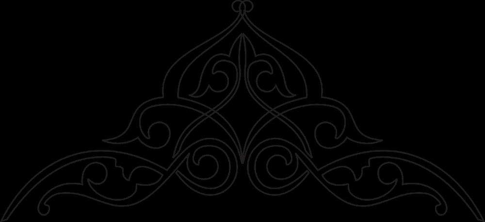 Kaligrafi Dekorasi Sederhana Motifs de broderie, Motif
