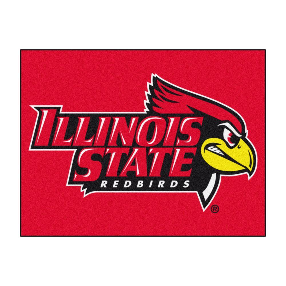Fanmats Ncaa Illinois State University Red 3 Ft X 4 Ft Area Rug 59 The Home Depot Illinois State University Illinois State Illinois State Redbirds