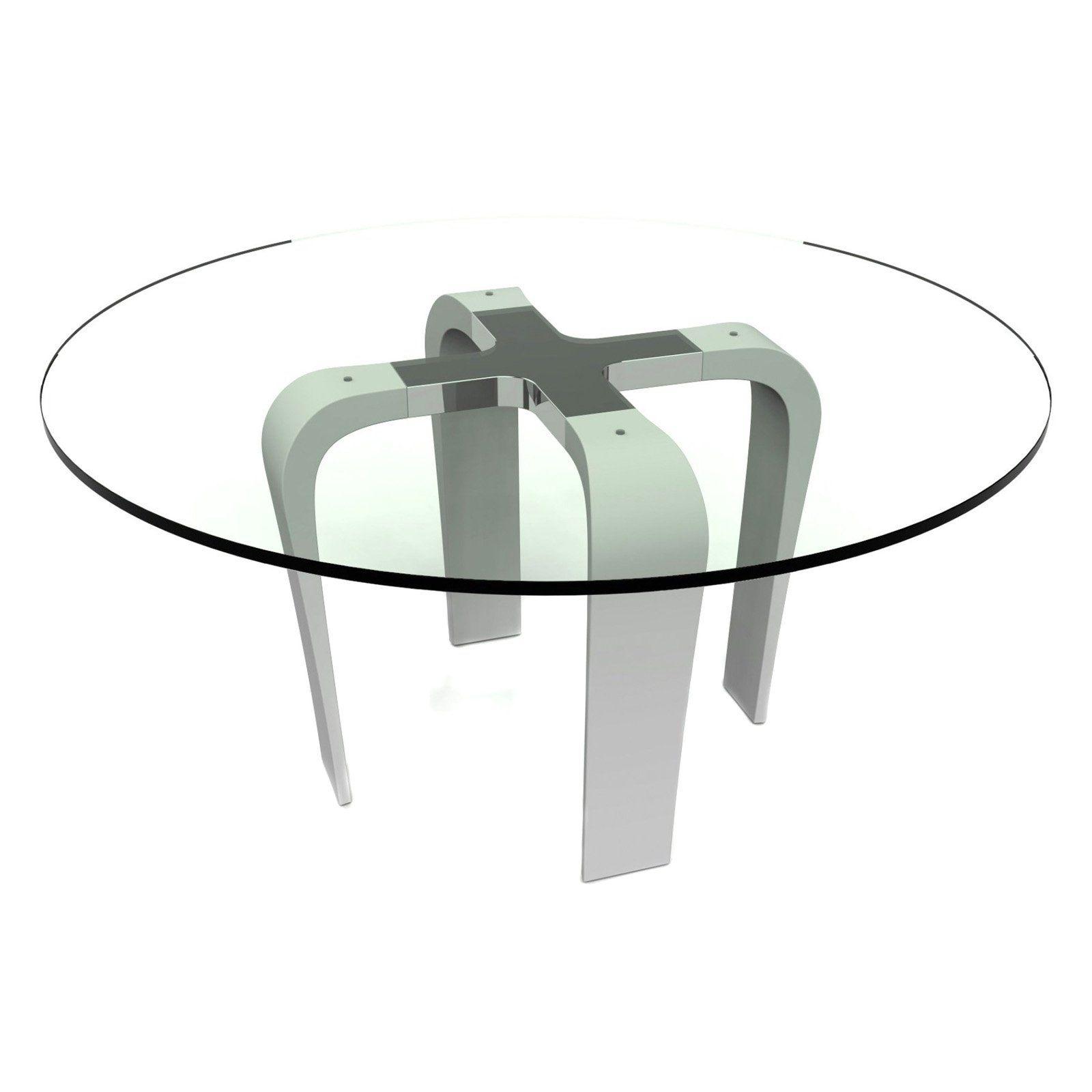 bellini modern living cirrus round glass dining table blni253 rh ar pinterest com