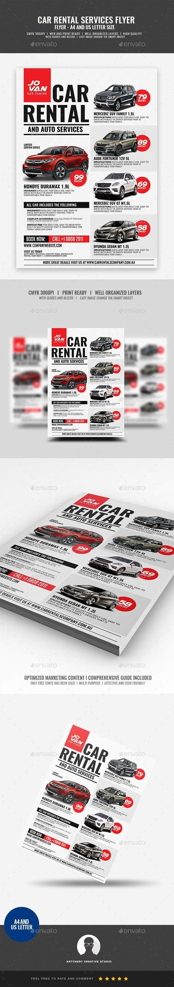 a4 flyer advertisement automobile car car for hire car for rent