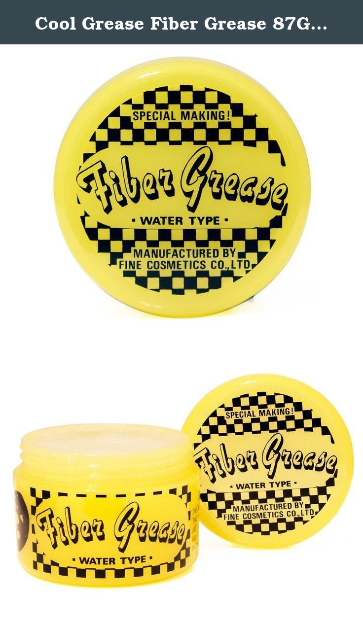 Cool Grease Fiber Grease 87g 3oz Cool Grease Fiber Grease Hair Pomade Uses A Water Based Formula That Grease Hairstyles Hair Pomade Beauty And Personal Care