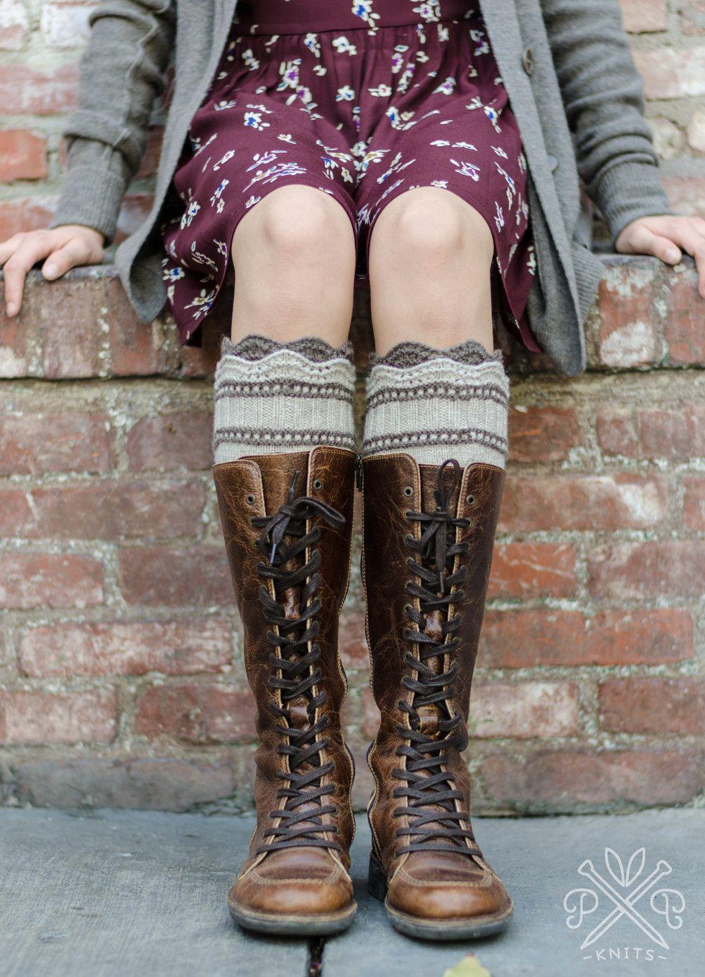 Brooklyn Boot Liners PDF knitting pattern found on pampowersknits ...