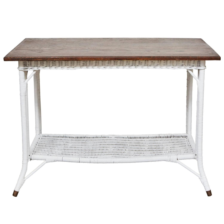 1920s wicker table with oak top porch 1918 foursquare duplex 2 rh pinterest com mx
