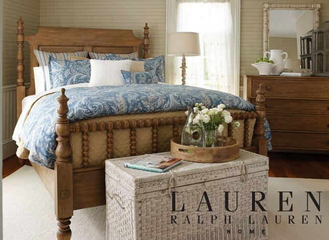 my bed ralph lauren s willowwood road sugarberry queen poster bed rh pinterest com