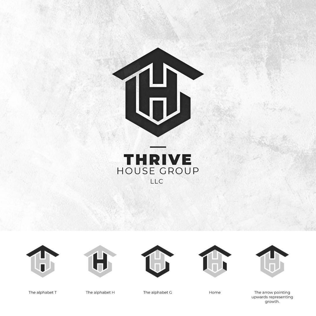 Thrive Logo Concept In 2020 Logo Concept Logo Design Logo Process