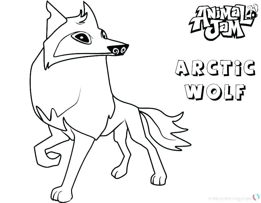 Coloring Page Animal Arctic Fox Coloring Page Arctic Fox Coloring Fox Coloring Page Animal Jam Arctic Wolf