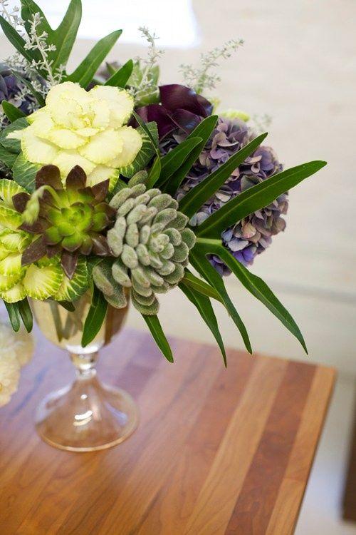 Flower Arrangements Using Succulents And Hydrangeas Using Split