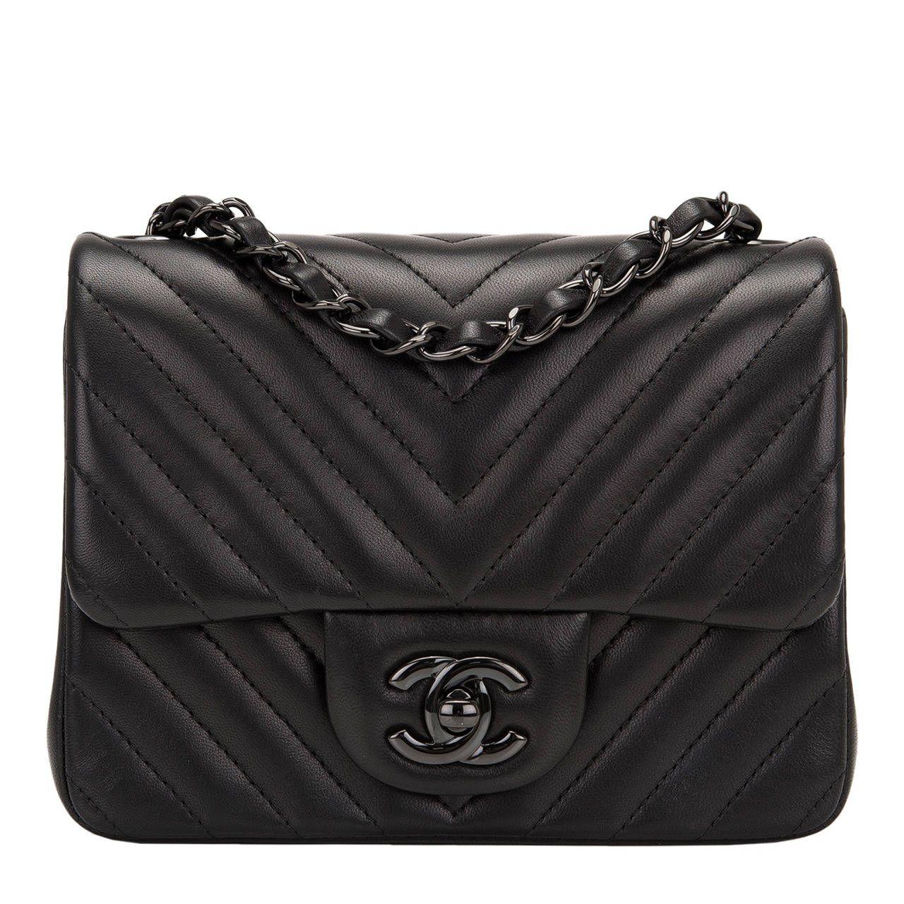 dff84f0e9d9917 Chanel So Black Chevron Mini Flap Bag | Shoes, bags, accessories ...