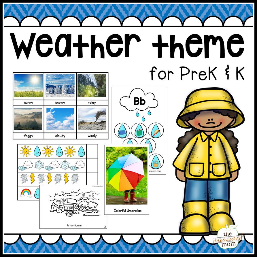 Weather theme for Preschool & Kindergarten Unit Ideas