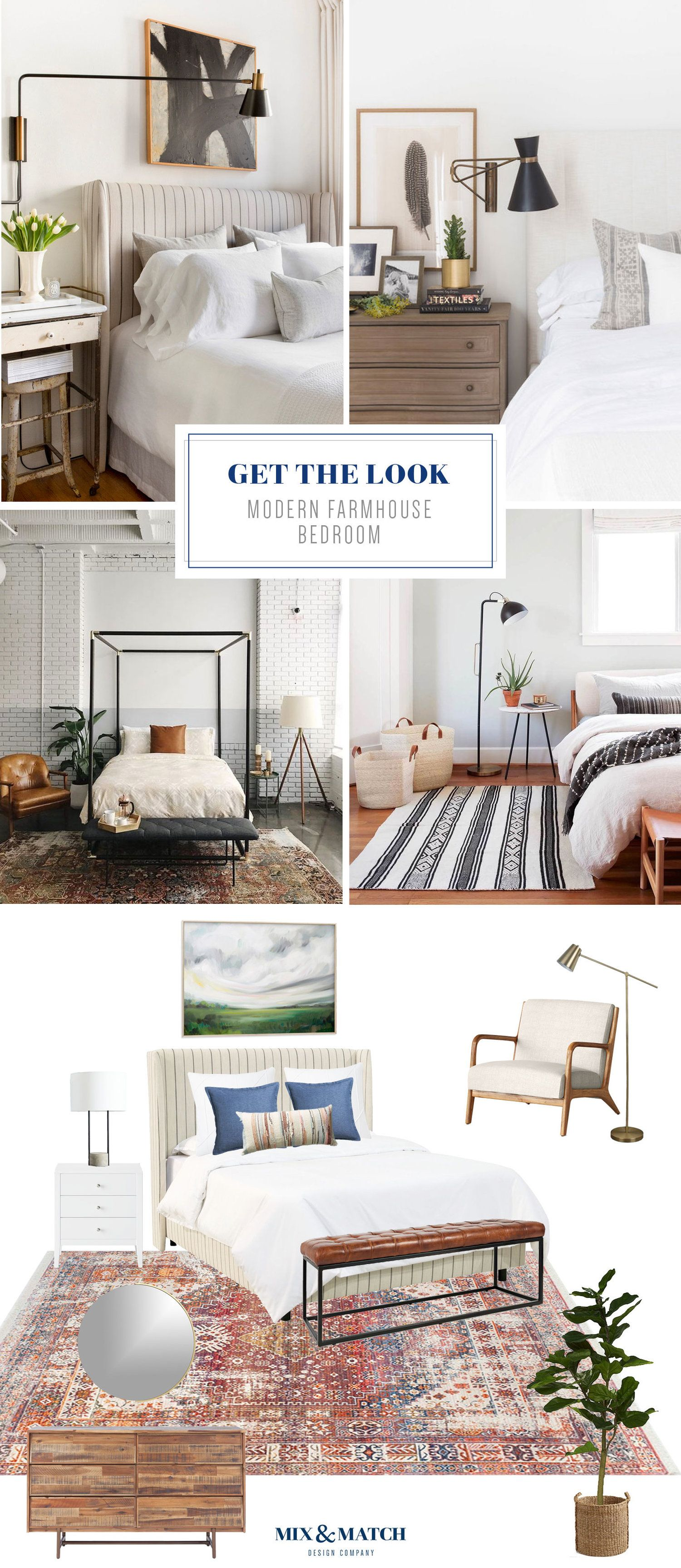 Get The Look Modern Farmhouse Bedroom Modern Farmhouse Bedroom